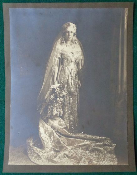 Antique Photo Grand Duchess Maria Romanov Russia Princess Leiningen Wedding 1926
